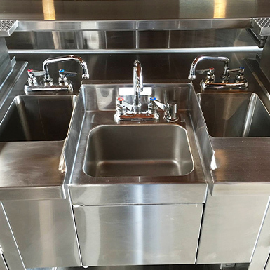 McClure Stainless' stainless steal custom sink