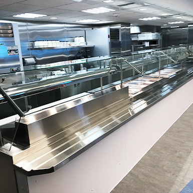 McClure Stainless' stainless steal custom buffet