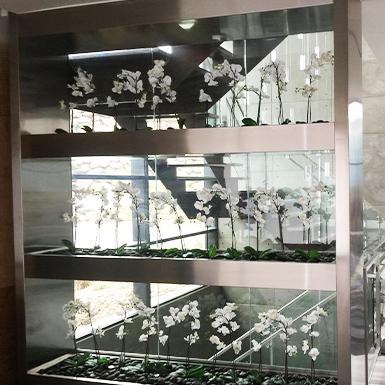 McClure Stainless' stainless steam custom shelving
